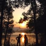 広東省恵州市紅花湖の夕日