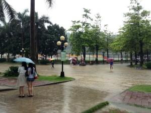 中国広東省の雨季