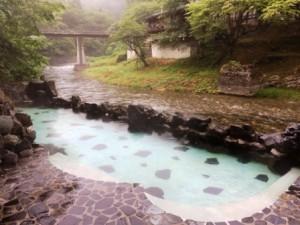 大沢温泉,露天風呂
