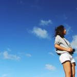青空と夏女