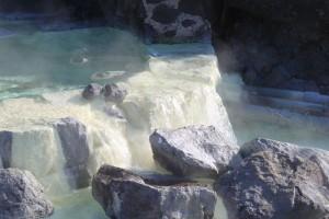 栗駒山の須川温泉は湯量が豊富です