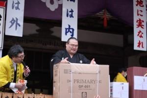 中尊寺,大節分会,2011年,高見盛関,豪華景品,福引,抽選