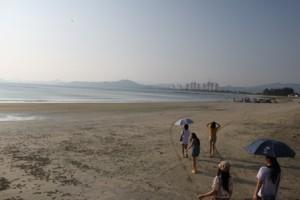 双月湾,砂浜
