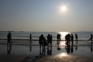 双月湾,太陽,海水浴