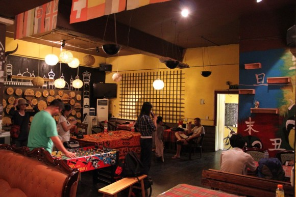 ウルムチ,新疆白桦林青年旅舎ユースホステル,ロビー