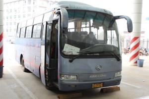 九江駅から廬山行きのバスに乗る