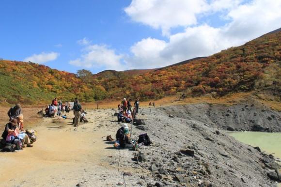 栗駒山、昭和湖