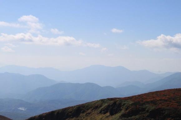 岩手県栗駒山から見える風景