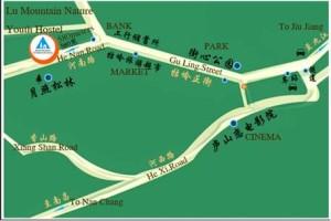 廬山ユースホステル,地図