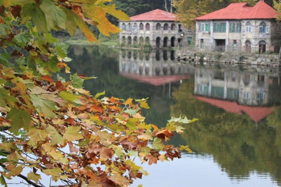 廬山の紅葉と別荘
