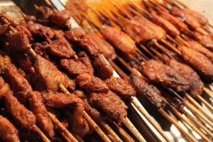 青海省西寧市,羊の串焼き