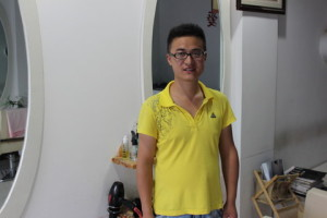 中国の美容院の店長