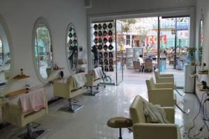 中国の美容院、店内の様子