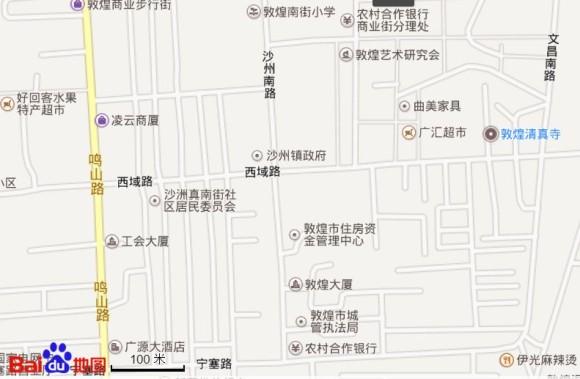 敦煌清真寺の地図