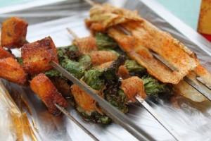 敦煌で食べた串焼き