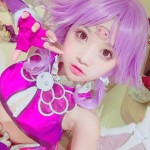 小柔SeeUのコスプレ、紫色の髪
