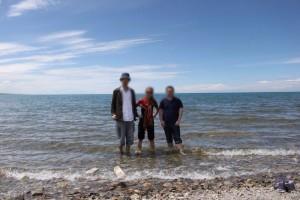 青海湖を中国人と旅行