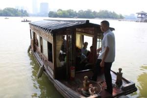 恵州西湖の船