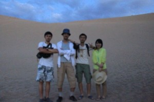 中国人の旅友3名と