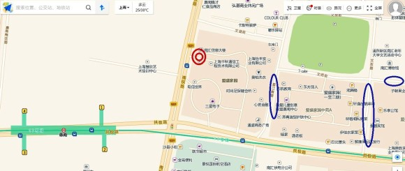 浦東新区恵南の地図、紫悦養生会館への行き方