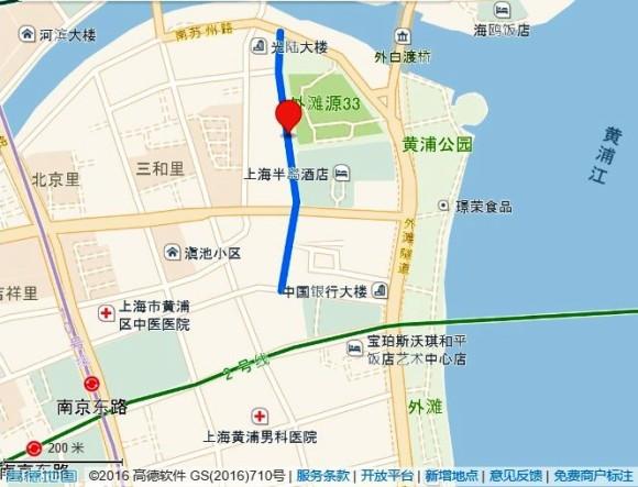 圓明園路の地図