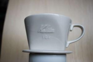中国で買ったコーヒードリッパー、カリタ101