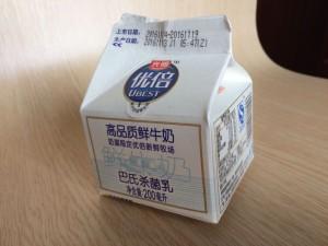 中国、光明の牛乳