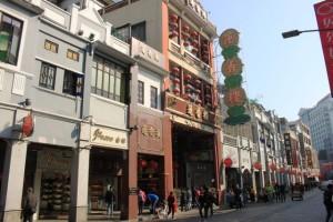 蓮香楼の入口。広州市西関