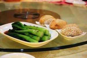 蓮香楼、広州の飲茶、野菜