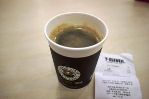 中国のセブンカフェで注文したコーヒー
