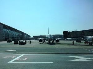 広州白雲国際空港で見た飛行機