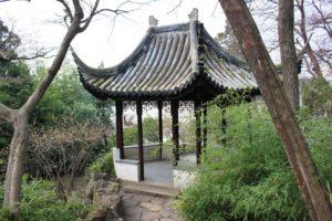 留園、中国っぽい屋根
