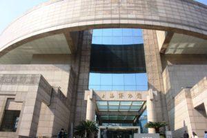 上海博物館の正面入口