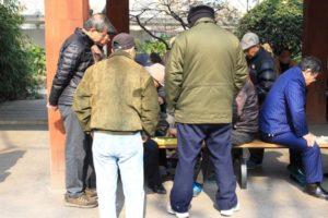 上海の中山公園、将棋