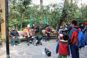 上海の中山公園、音楽家たち