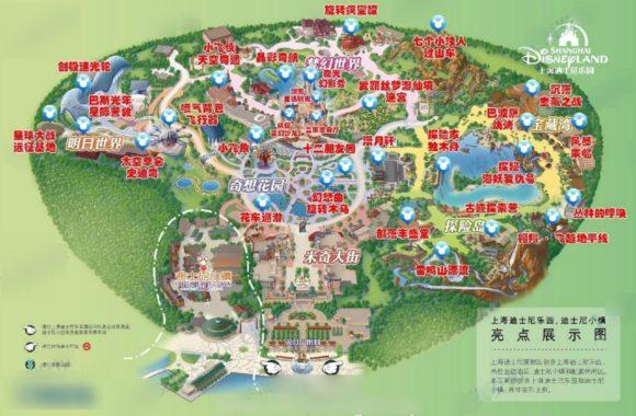 上海ディズニーランドの地図