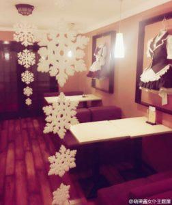 上海のメイドカフェ店内の様子、クリスマス