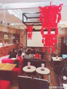 上海のメイドカフェ店内の様子、春節