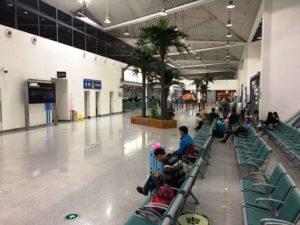 恵州空港。待合ロビー