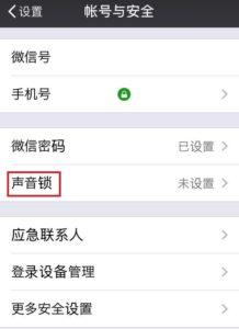 WeChatで音声パスワード