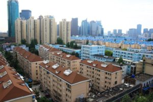 上海中電大酒店の窓からの眺め