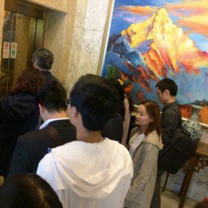 上海中電大酒店のエレベーター