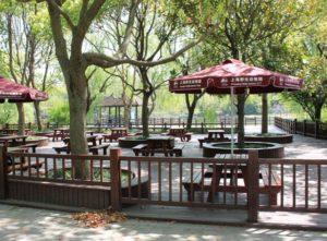 上海野生動物園の休憩スペース