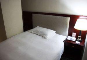 上海中電大酒店のベッド