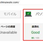 サイトの速度と評価