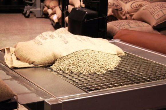 リザーブ ロースタリー上海、生のコーヒー豆